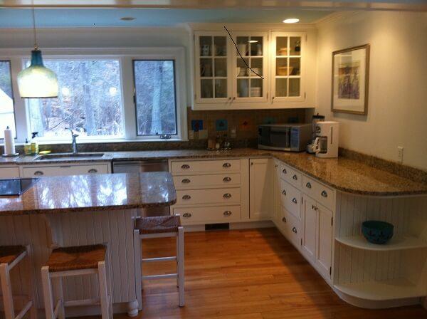 kitchen cabinet refinishing job in sherborn ma