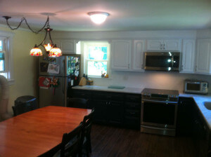 A photo of a remodel kitchen in Foxboro, MA