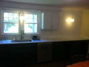 Photo of a remodeled kitchen in Foxboro, MA